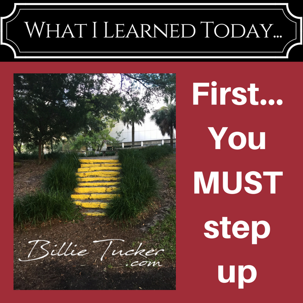 Lessons Learned:  First…you MUST Step up!